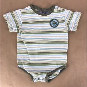 Junior explorer green stripe body suit